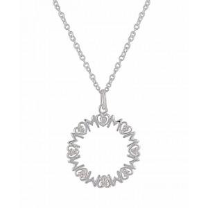 'MOM' Silver Pendant Necklace