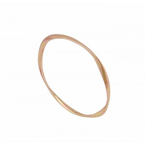 Rose Gold Plated Sterling Silver Twist Bangle