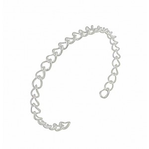 Open Linkage Silver Cuff Bangle