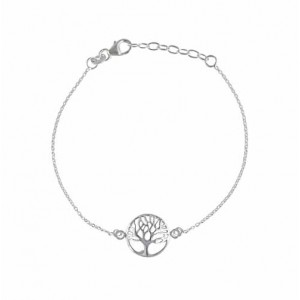 Life of Tree Sterling Silver Bracelet