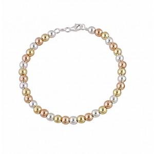 Round Bead Silver Bracelet