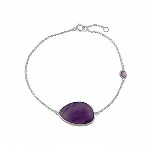 Silver Amethyst Bracelet - Amethyst Jewellery