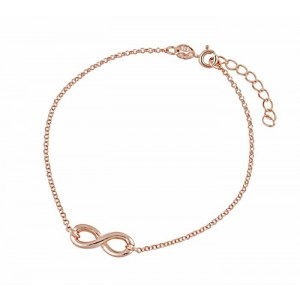 Rose Gold Plated Infinity Bracelet