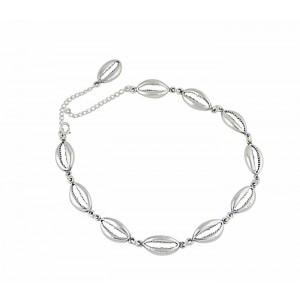 Shell Design Silver Bracelet