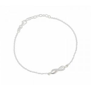 Infinity and CZ Silver Bracelet