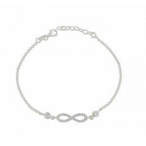Infinity Sterling Silver Adjustable Bracelet
