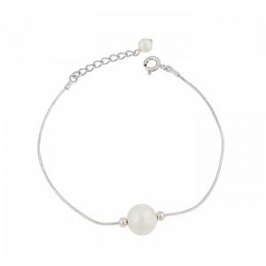 Single Freshwater Pearl Silver Bracelet