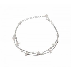 Triangle and Silver Bead Bracelet