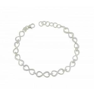 Interlink Small Infinity Silver Bracelet
