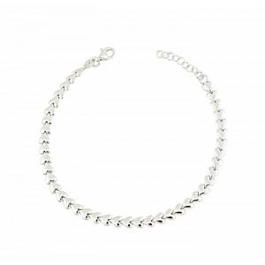 Interlink Heart Silver Bracelet