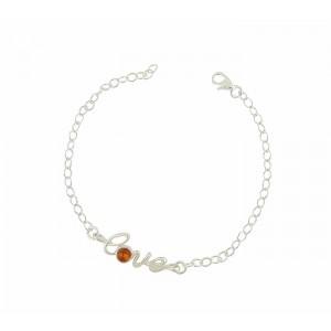LOVE Cognac Amber Bracelet