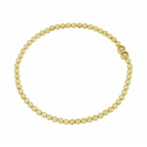 Diamond Cut Gold Plated Silver Ball Bracelet