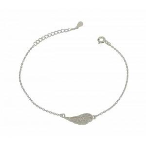 Angel Wing Charm Silver Bracelet