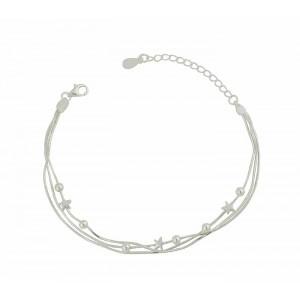 Star Thread Silver Bracelet