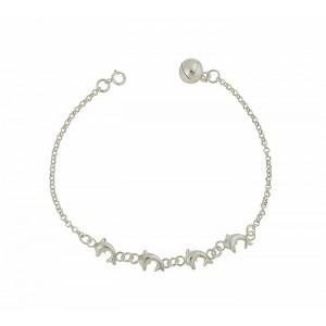 Dolphin Pod Silver Bracelet