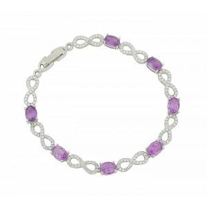 Infinity Amethyst Encrusted Bracelet