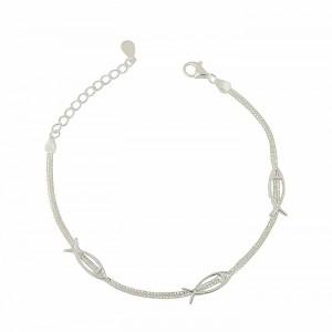 Fish Faith Silver Bracelet