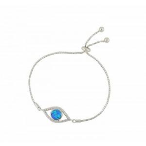 Blue Opal Protecting Eye Slider Bracelet