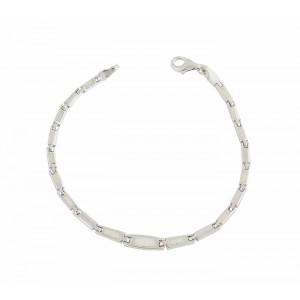 White Opal Linkage Silver Bracelet