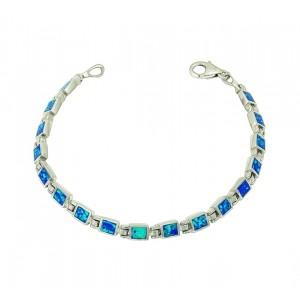 Blue Opal Petite Square Bracelet