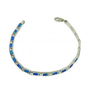 Blue Opal Petite Rectangular Bracelet