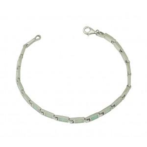 White Opal Petite Rectangular Bracelet