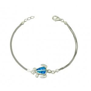 Blue Opal Turtle Bracelet