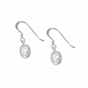 Crystal Drop Sterling Silver Earrings