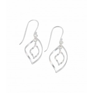 Twisted Teardrop Silver Drop Earrings