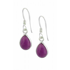 Sterling Silver Teardrop Amethyst Earrings