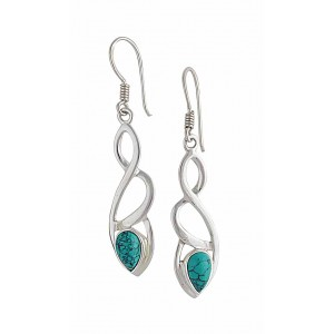 Crossover Turquoise Earrings