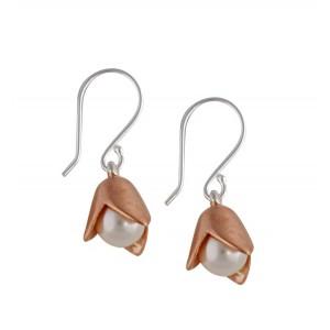 Vermeil Snow Drop Pearl Earrings