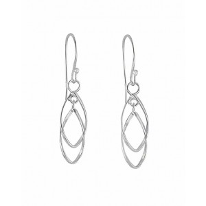 Interlink Silver Drop Earrings