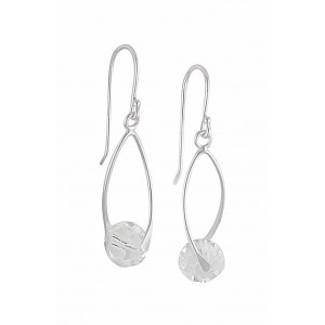 Swarovski Crystal Silver Drop Earrings