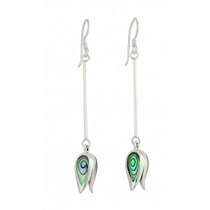 Abalone Tulip Dangly Earrings