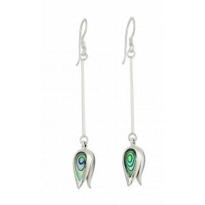 Abalone Tulip Dangly Earrings