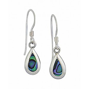 Small Abalone Teardrop Earrings