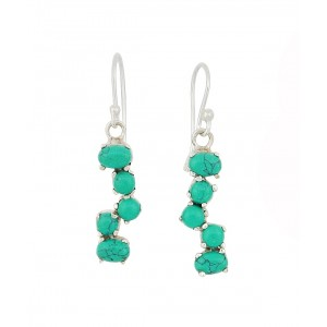 Turquoise Scatter Drop Earrings