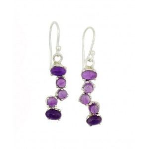Amethyst Scatter Drop Earrings