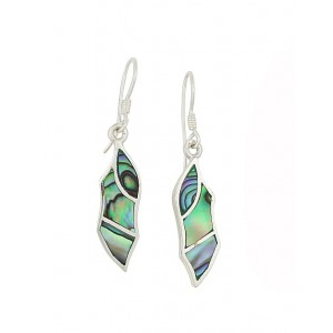 Abalone Shaft Drop Earrings