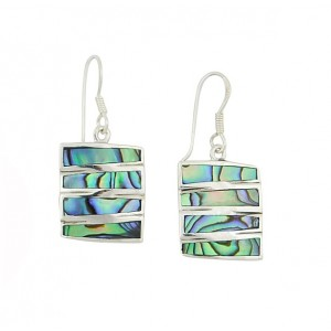Abalone Stack Drop Earrings