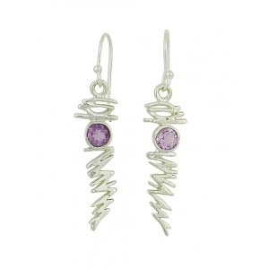 Amethyst Shatter Drop Earrings