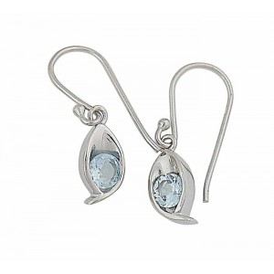Blue Topaz Small Drop Earrings | The Opal