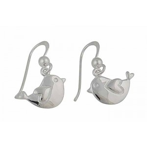 Love Bird Silver Earrings