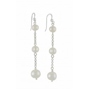 Trio of Freshwater Pearl Drop Earrings