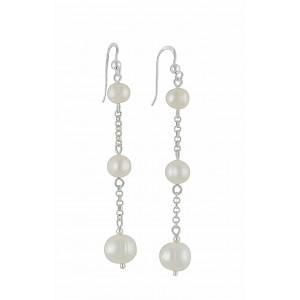 Trio of Freshwater Pearl Drop Earrings