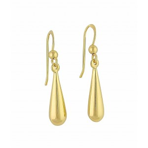 18k Gold plated Pear Shaped Silver Drop Earrings | The Opal Jewellery