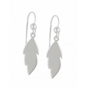 Small Leaf Silver Drop Earrings | The Opal Jewellery