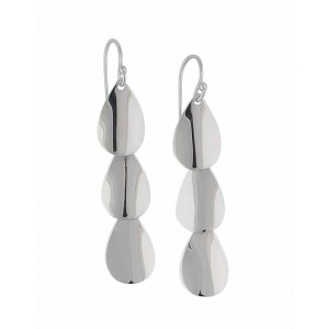 Triple Cascading Teardrop Silver Drop Earrings | The Opal Jewellery