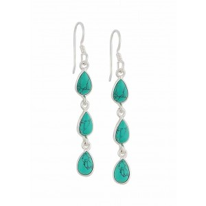 Triple Teardrop Turquoise Drop Earrings